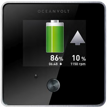 Oceanvolt SEA display and regeneration button